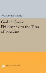 Omslag - God in Greek Philosophy to the Time of Socrates
