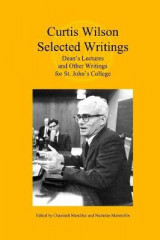 Omslag - Curtis Wilson, Selected Writings