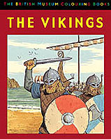 Omslag - The vikings. The British Museum colouring book