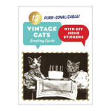 Omslag - Vintage Cat Memes Diy Greeting Card Folio