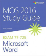 Omslag - Mos 2016 Study Guide for Microsoft Word