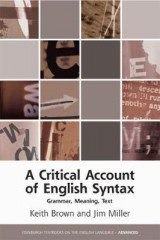 Omslag - A Critical Account of English Syntax