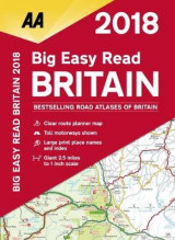 Omslag - AA Big Easy Read Atlas Britain 2018