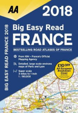 Omslag - AA Big Easy Read Atlas France 2018