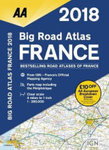 Omslag - AA Big Road Atlas France 2018