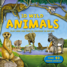 3D Wild: Animals av Kingfisher (Innbundet)