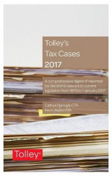 Omslag - Tolley's Tax Cases 2017