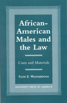African-American Males and the Law av Floyd D. Weatherspoon (Innbundet)