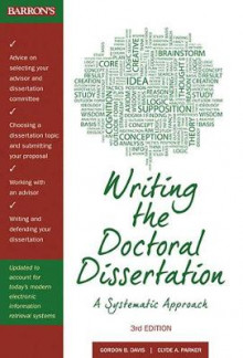 Writing the Doctoral Dissertation av Gordon B. Davis og Detmar W. Straub (Heftet)