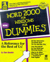 Omslag - Word 2000 for Windows for dummies