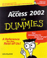 Omslag - Access 2002 for dummies