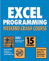 Excel Programming Weekend Crash Course av Peter G. Aitken (Heftet)