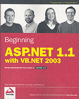 Beginning ASP.NET 1.1 with VB.NET 2003 av Chris Ullman, John Kauffman, Chris Hart og David Sussman (Heftet)