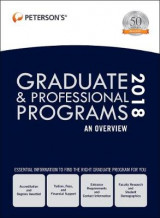 Omslag - Graduate & Professional Programs: An Overview 2018