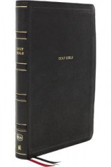 Omslag - NKJV, Deluxe Reference Bible, Center-Column Giant Print, Leathersoft, Black, Red Letter, Thumb Indexed, Comfort Print