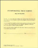 Interpersonal Trust Surveys av Guy L. De Furia (Heftet)