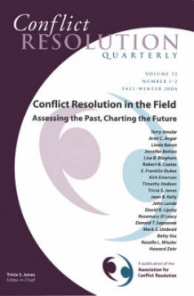 Conflict Resolution in the Field 2004 (Heftet)