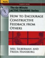 How to Encourage Constructive Feedback from Others av Mel Silberman og Freda Hansburg (Heftet)