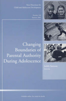 Changing Boundaries of Parental Authority During Adolescence av CAD (Child & Adolescent Development) (Heftet)