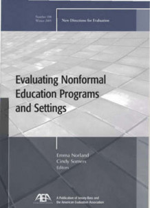 Evaluating Non-Formal Education Programs and Settings av EV (Evaluation) (Heftet)