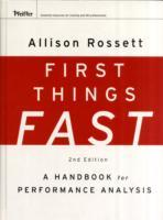 First Things Fast av Allison Rossett (Innbundet)