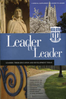 Leader to Leader (LTL) av Joe LeBoeuf, Sanyin Siang, Blair H. Sheppard, Thomas J. Tierney, Christensen, Jeffrey T. Glass, Sim B. Sitkin, E. Allan Lind, William Boulding og John Gallagher (Heftet)
