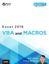 Omslag - Excel 2016 VBA and Macros: Includes Content Update Program