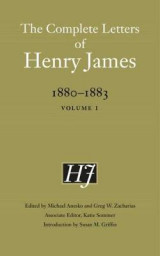 Omslag - The Complete Letters of Henry James, 1880-1883: Volume 1