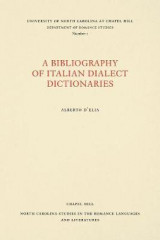 Omslag - A Bibliography of Italian Dialect Dictionaries