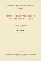 Omslag - Romance Etymologies and Other Studies by Carlton Cosmo Rice