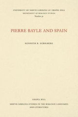 Omslag - Pierre Bayle and Spain