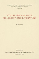 Omslag - Studies in Romance Philology and Literature
