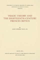 Omslag - Tragic Theory and the Eighteenth-Century French Critics