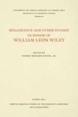 Omslag - Renaissance and Other Studies in Honor of William Leon Wiley