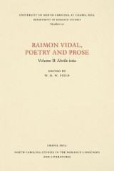 Omslag - Raimon Vidal, Poetry and Prose