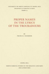 Omslag - Proper Names in the Lyrics of the Troubadours
