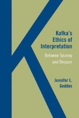 Omslag - Kafka's Ethics of Interpretation