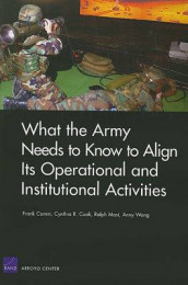What the Army Needs to Know to Align its Operational and Institutional Activities av Frank Camm, Cynthia R Cook, Ralph Masi og Anny Wong (Heftet)
