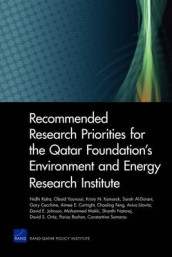 Recommended Research Priorities for the Qatar Foundation's Environment and Energy Research Institute av Sarah Al-Dorani, Gary Cecchine, Aimee E. Curtright, Chaoling Feng, David E. Johnson, Nidhi Kalra, Kristy N. Kamarck, Aviva Litovitz, Mohammed Makki og Obaid Younossi (Heftet)