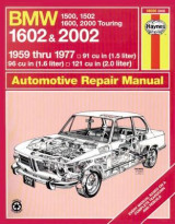 Omslag - B. M. W. 1602 and 2002 Owner's Workshop Manual