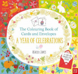 Omslag - The National Trust: The Colouring Book of Cards and Envelopes - A Year of Celebrations