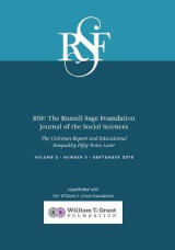 Omslag - Rsf: The Russell Sage Foundation Journal of the Social Sciences