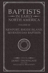 Omslag - Baptists in Early North America: Volume 3