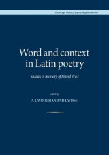 Omslag - Word and Context in Latin Poetry