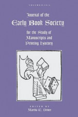 Omslag - Journal of the Early Book Society Vol. 19