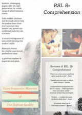 Omslag - RSL 8+ Comprehension: Practice Papers with Detailed Answers & Explanations for 8 Plus, KS1 & KS2 English Exams
