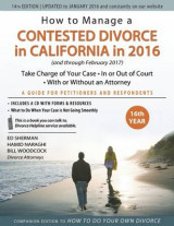 Omslag - How to Manage a Contested Divorce in California in 2016