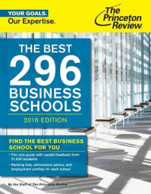 Best 296 Business Schools: 2016 Edition av Princeton Review (Heftet)