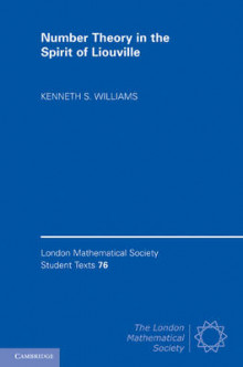 Number Theory in the Spirit of Liouville av Kenneth S. Williams (Innbundet)