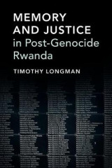 Omslag - Memory and Justice in Post-Genocide Rwanda